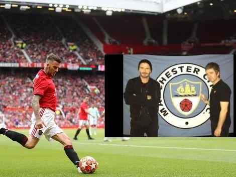 Beckham trolea a Noel Gallagher, fanático del City