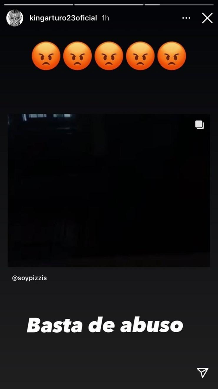 La indignación de Arturo Vidal en Instagram