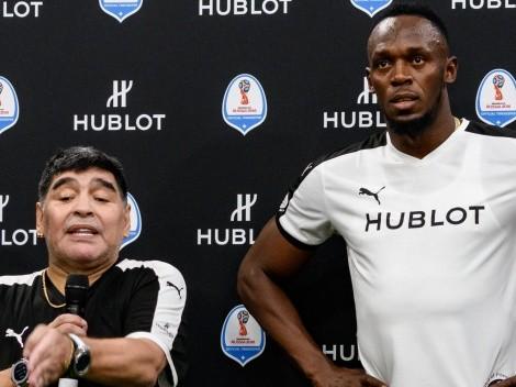 "Usain Bolt: ""Siempre soñé ser una leyenda como Maradona"""