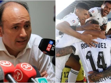 """Valladares: """"Los bloques en Colo Colo llegan hasta aquí"""""""