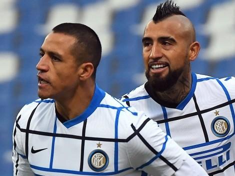 Inter campeón: Vidal y Alexis se abrazan en Italia
