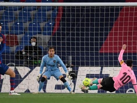 Golazo de Messi: tijera desde el suelo para Barcelona
