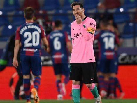 Barcelona se cae en la lucha por el título: empate contra Levante