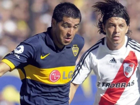 "Riquelme le toca la oreja a Gallardo: ""Tiene mucha suerte"""