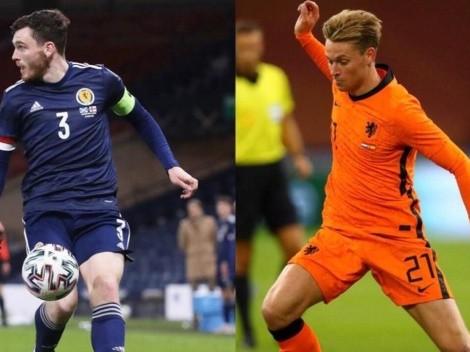 Holanda y Escocia animan entretenido duelo previo a la Euro