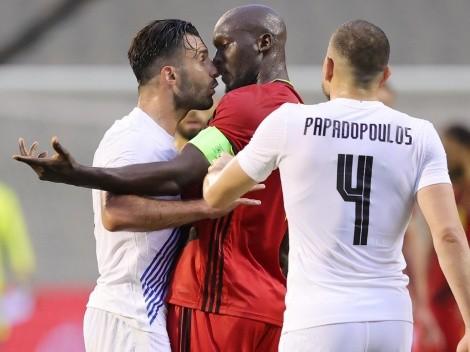 Empate entre Bélgica y Grecia con Lukaku mochero