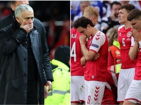 """Mourinho desesperado tras colapso de Eriksen: """"Lloré y recé"""""""
