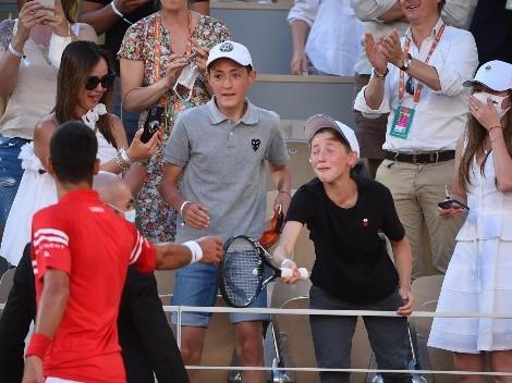 Niño se hace viral por su explosiva reacción al recibir racquet de Nole