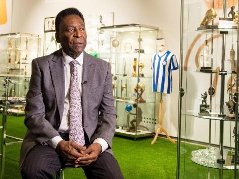 Pelé se emociona con el homenaje a Diego Maradona