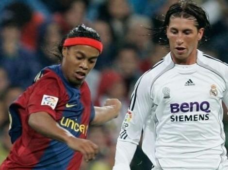 La tocada de oreja entre Ronaldinho y Sergio Ramos