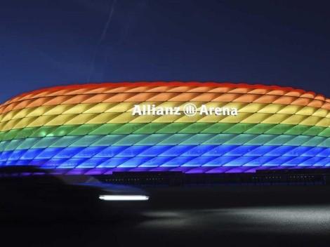 UEFA prohíbe el arcoíris y Munich responde con edificios iluminados