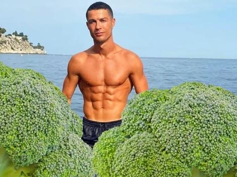 Cristiano Ronaldo come brócoli para cuidar su cuerpo