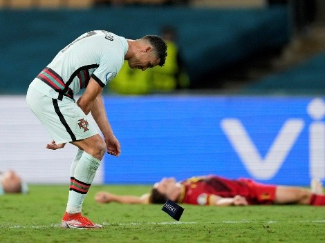 Cristiano Ronaldo patea la jineta de capitán tras eliminación