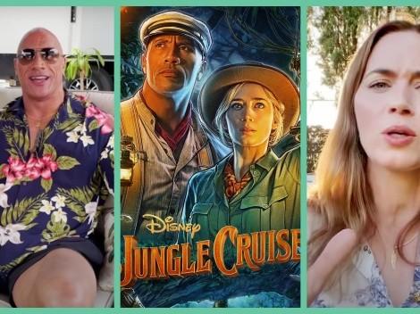 Dwayne Johnson y Emily Blunt presentan sus propios trailers de Jungle Cruise