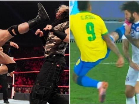 Luchador WWE reacciona a la chuleta de Gabriel Jesús a Mena
