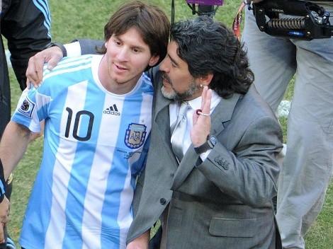 Sigue la eterna comparación entre Maradona y Messi