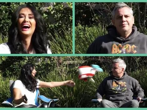 [VIDEO] Pamela Díaz se ríe en la cara de Viñuela por polémica del corte de pelo