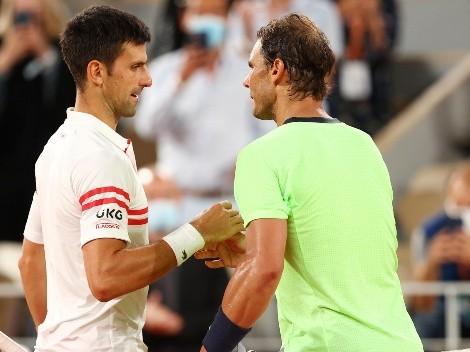 Nadal lo felicitó por igualar su récord y Djokovic le respondió