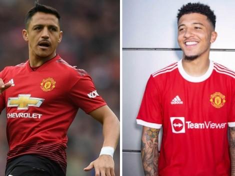 Sancho por Sánchez: reemplazado en cántico del Man Utd