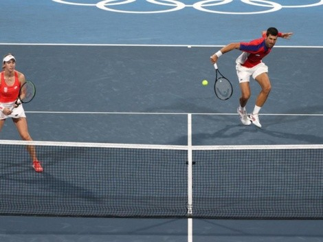 Polémica: Djokovic se baja del bronce de los dobles mixtos