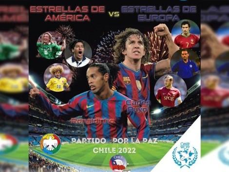 Partido por la Paz: Ronaldinho y otras leyendas jugarán en Chile