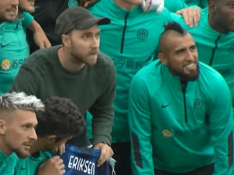 Vidal feliz por el reencuentro de Eriksen con el Inter