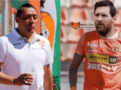 Kalule Meléndez fantasea con Lionel Messi en Cobreloa