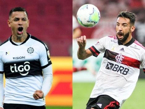 El Fla de Mauricio Isla comienza la ronda de cuartos de Libertadores visitando a Olimpia
