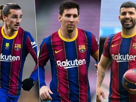 Barcelona busca 9 para reemplazar a Messi y al lesionado Agüero