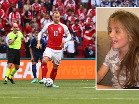 Héroe: Eriksen anima a una niñita con afección cardíaca