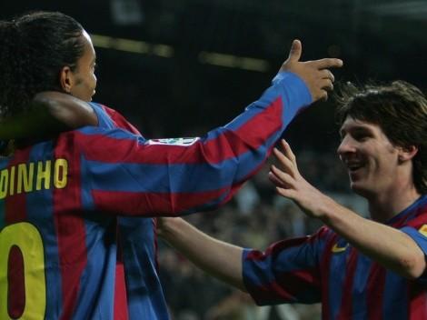 """Dinho a Messi: """"Que haya muchos momentos de alegría"""""""
