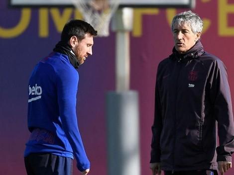 """Palo de Setién a Messi: """"El vestuario del Barcelona no era feliz"""""""