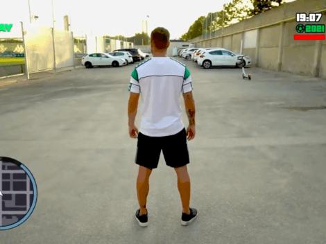 Video: La notable presentación a lo GTA del Betis a Pezzella