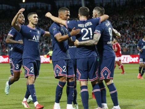 PSG sufre pero gana gracias a golazos de Mbappé y Di María