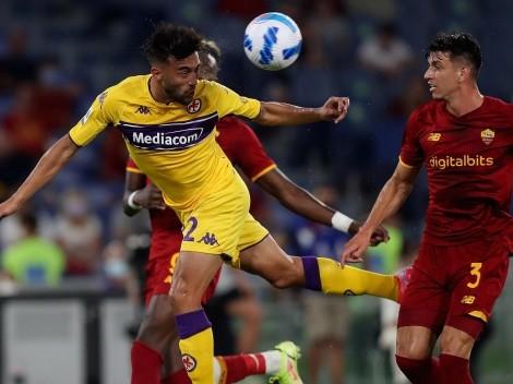 Con asistencia de Pulgar: Fiorentina cae ante la Roma de Mou