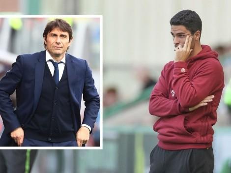 Arteta tiene las horas contadas en Arsenal y asoma Antonio Conte