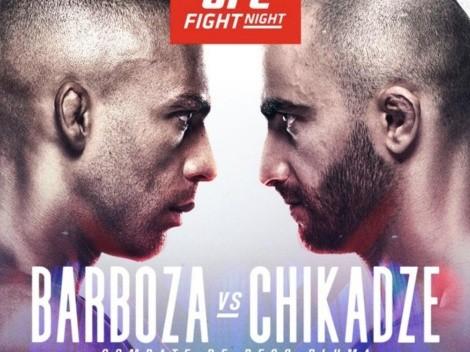 Horario: Barboza contra Chikadze por la UFC