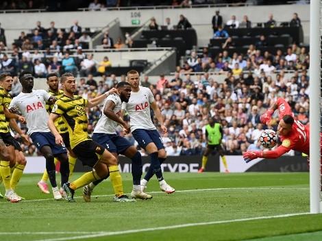 Sierralta no pudo: Tottenham derrota al Watford y es líder
