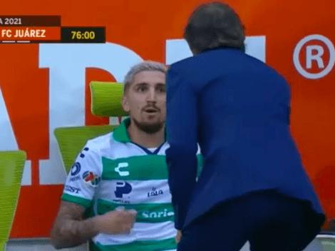 Video: ¡A lo Gary! Valdés se agarra con su técnico en Santos Laguna