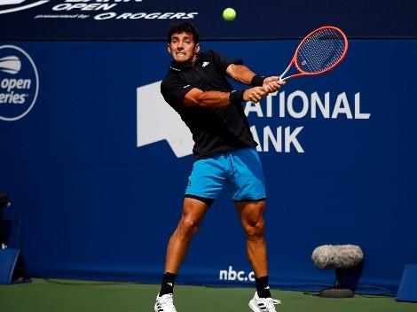 Cristian Garin sale a la cancha en el US Open