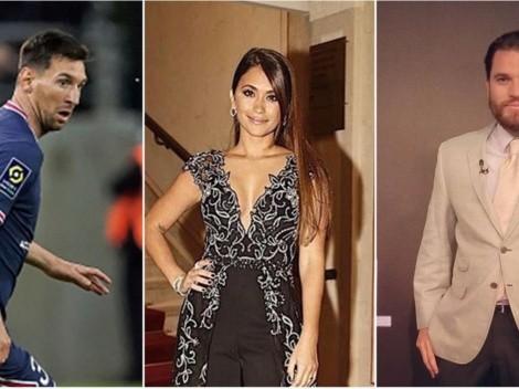 Periodista se desubica y se pasa tres pueblos con la esposa de Messi