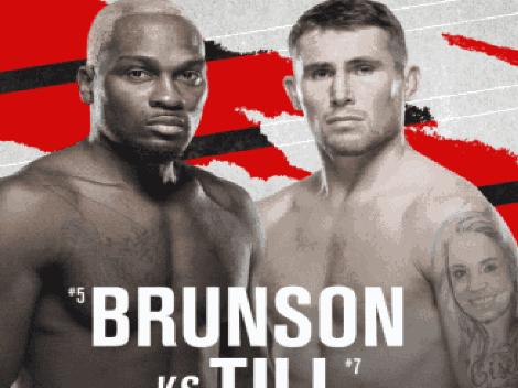 Horario: Brunson vs Till animan pelea estelar de UFC Vegas 36