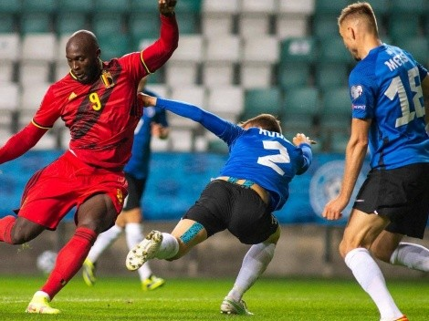 Lukaku se desata con Bélgica y marca doblete ante Estonia