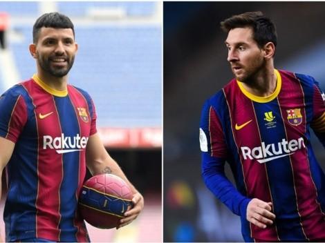 """Amigo fiel: el Kun rechaza la 10 del  Barça """"por respeto a Messi"""""""