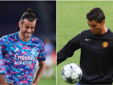 Bale como cabro chico por el regreso de CR7 al United