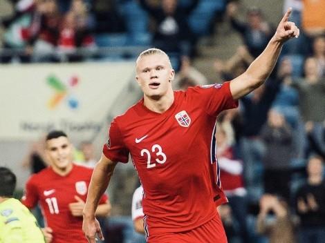¡Imparable! Haaland marca tremendo triplete en triunfo de Noruega
