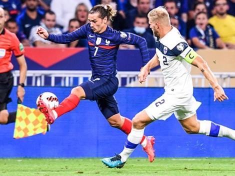 Doblete de Griezmann en triunfo de Francia contra Finlandia