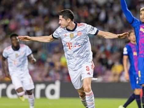 0-2 del Bayern: gol de Lewandowski contra Barcelona