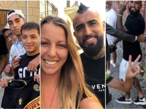 Vidal aparece en pequeño pueblito en Italia y deja la escoba