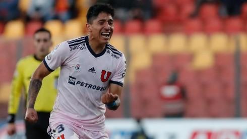 Camilo Moya convirtió en el duelo ante la Unión Española, el que fue su segundo gol con la camiseta de Universidad de Chile. Foto: Agencia Uno